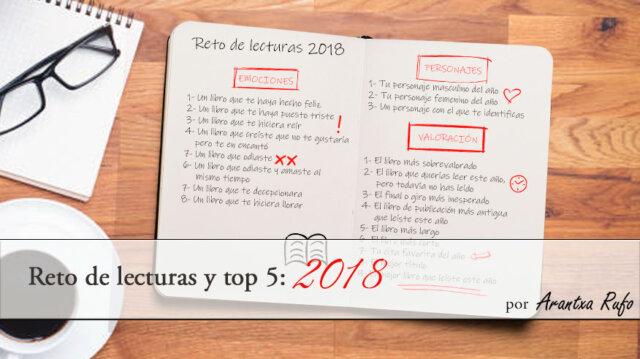 reto de lecturas y top 5: 2018 - arantxarufo.com